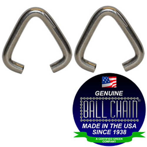 .072 Inch Triangular Jump Rings - Nickel Plated Steel