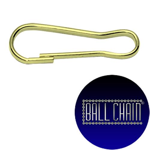 Snap Hooks - 1 Inch Size - Brass Plated Steel