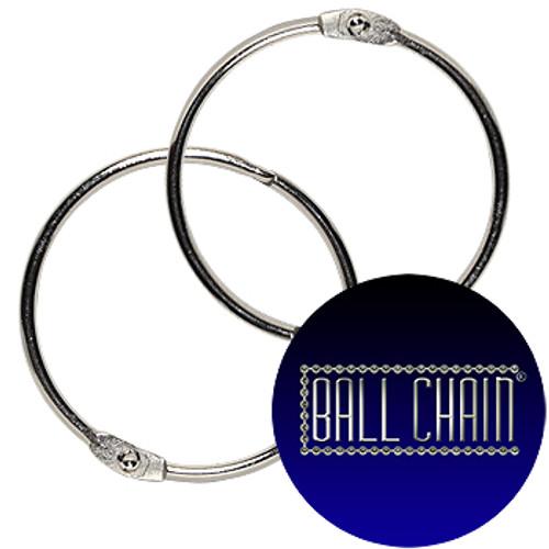 2-3/4 Inch Nickel Plated Steel Binder Rings