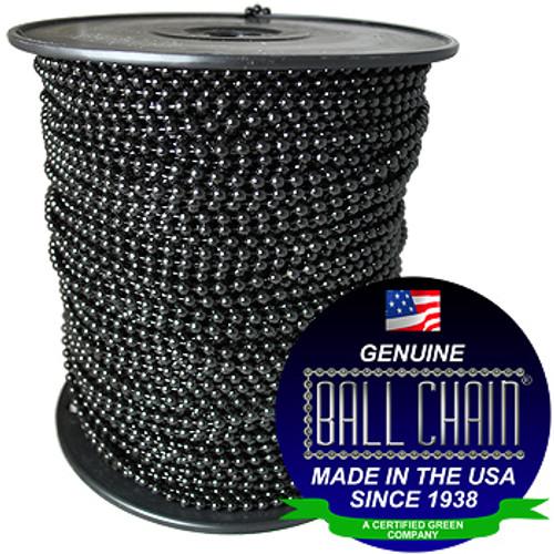 #10 Black Coated Ball Chain Spool
