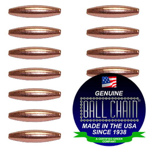 4.8mm x 9.5mm Elliptical Bars - Copper