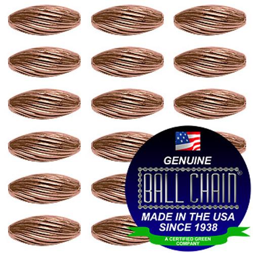 4.8mm x 9.5mm Elliptical Bars Spiral - Copper