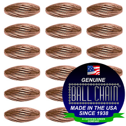 4.8mm x 9.5mm Elliptical Bars Spiral - Copper