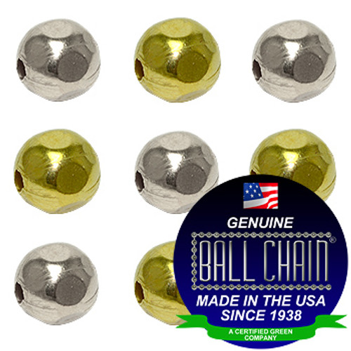 6.3mm Faceted Metal Beads - Nickel Plated Brass, Yellow Brass, or Gilding Metal