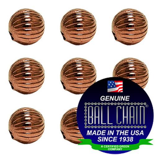 4.0mm Spiral Beads - Copper