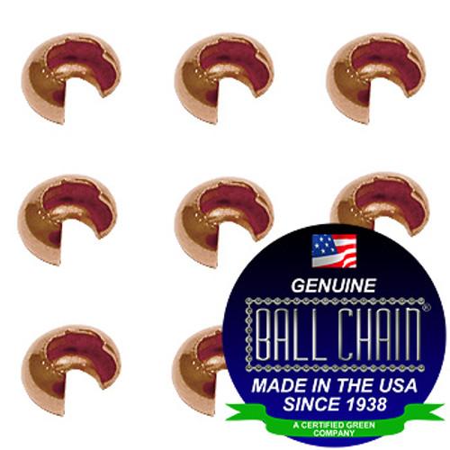 2.4mm Crimp Covers - Copper
