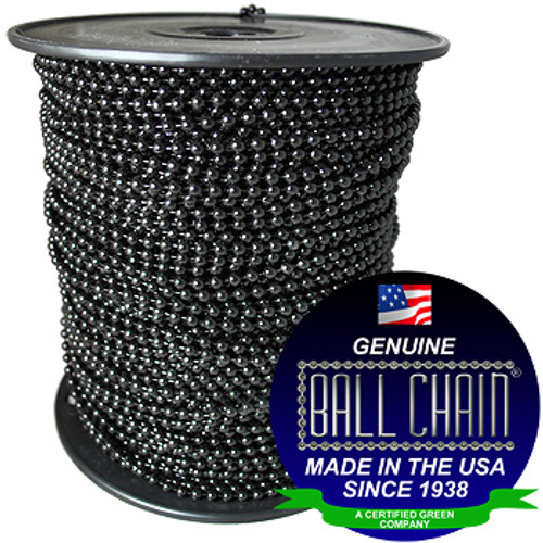 #3 Black Coated Ball Chain Spool
