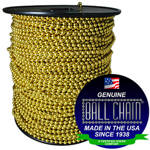 #15 Yellow Brass Ball Chain Spool