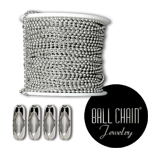 1.8 mm Sterling Silver Ball Chain Spool