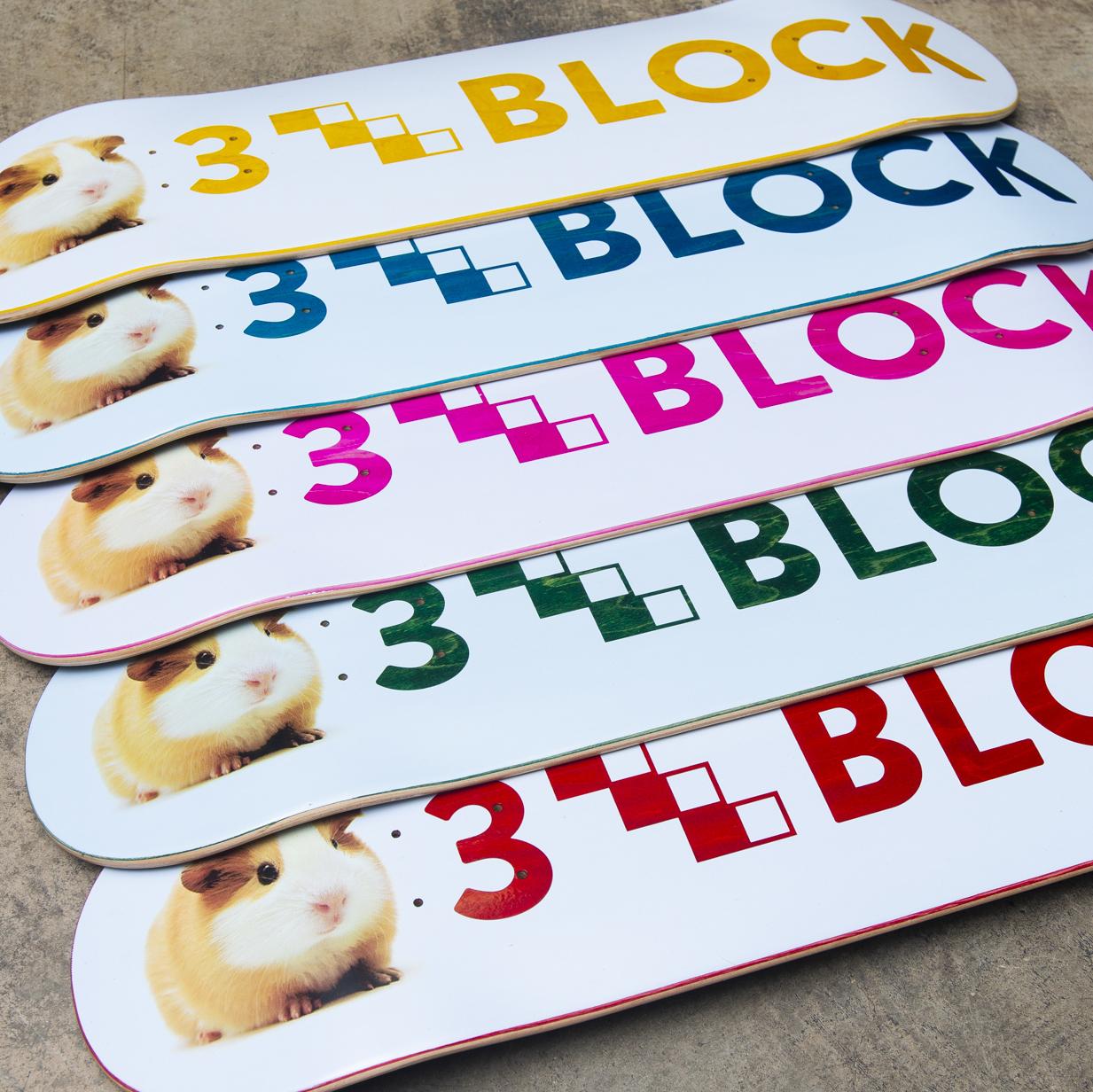 3block guinea pigs guineapig skateboard deck skateboarding