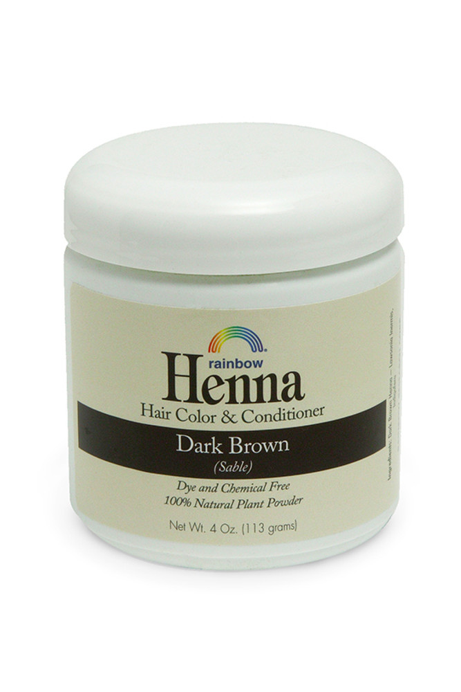 Henna Dark Brown 4oz,17oz,34oz.