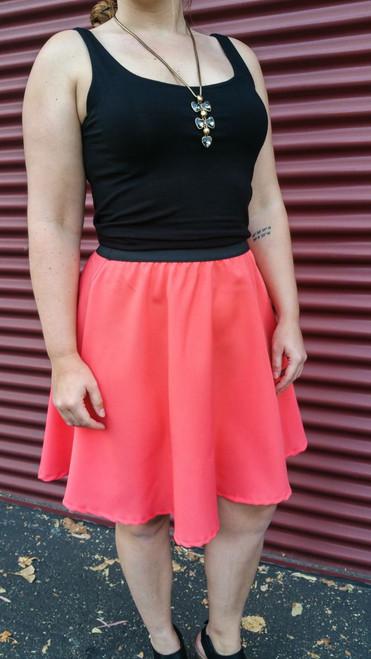 Libby Flounce Skirt {Coral}