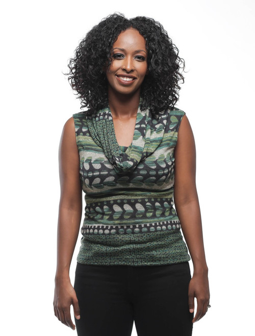 Evelyn sleeveless sweater {Green}