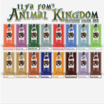 Animal Kingdom Set of 16