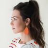 N&S Select Orange Leather Earrings