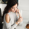 N&S Signature Rose Gold Thin Leather Cuff