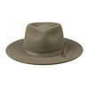 Moss Zulu Fedora  100% Australian wool Double stitched gross-grain ribbon