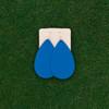 TEAM Light Blue Leather Earrings