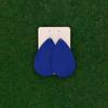 Nickel & Suede Leather Earrings │TEAM Blue