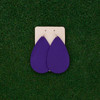 TEAM Purple Leather Earrings