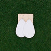 TEAM White Leather Earrings