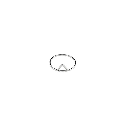 Triangle Minimalist Silver Ring