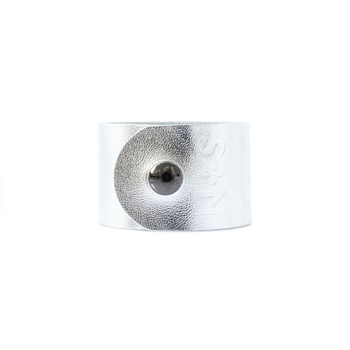 Nickel & Suede Leather Cuff | N&S Signature Silver Wide