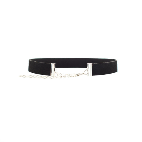 Black Suede Leather Choker Adjustable