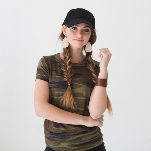 Nickel & Suede Tee │N&S Women's Camo