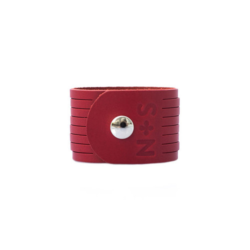 N&S Select Red Slit Leather Cuff