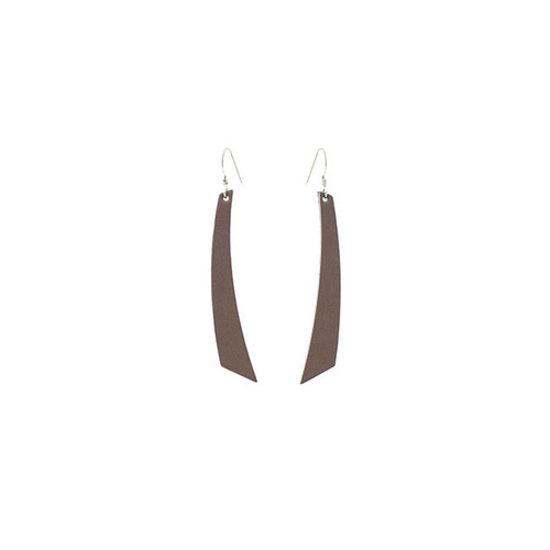 Stone Accent Leather Earrings Sterling silver ear wire Nickel free