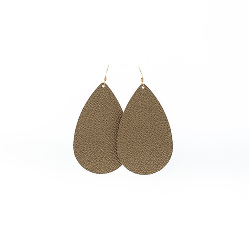 Gala Gold Leather Earrings