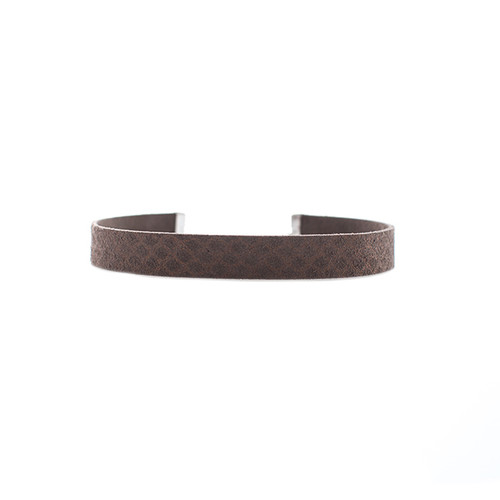 Taupe Shimmer Leather Choker