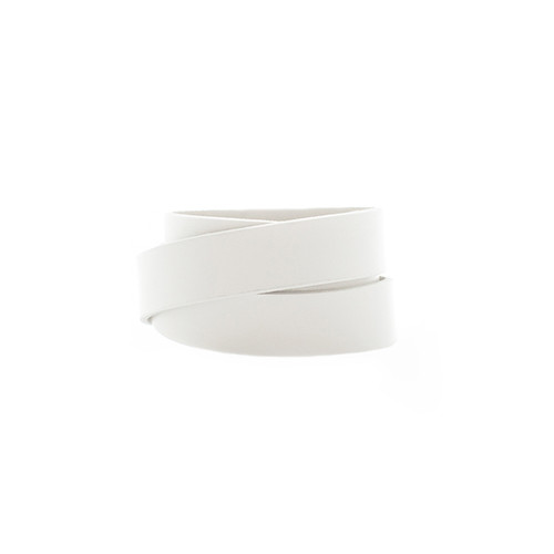 N&S Select White Wrap Leather Cuff