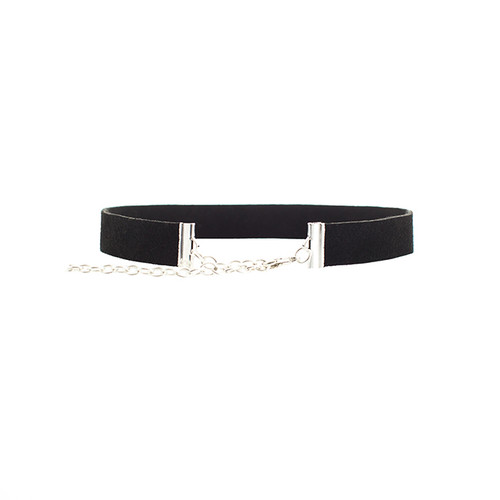 Desert Black Suede Leather Choker  Adjustable