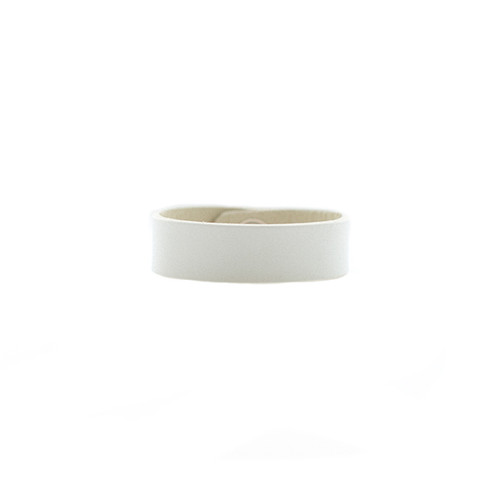 N&S Select White Thin Leather Cuff