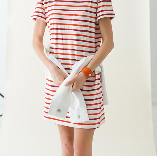 N&S Select Orange Slit Leather Cuff