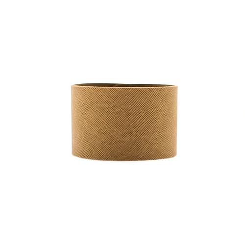 Nickel & Suede Leather Cuff | Antique Brass Wide