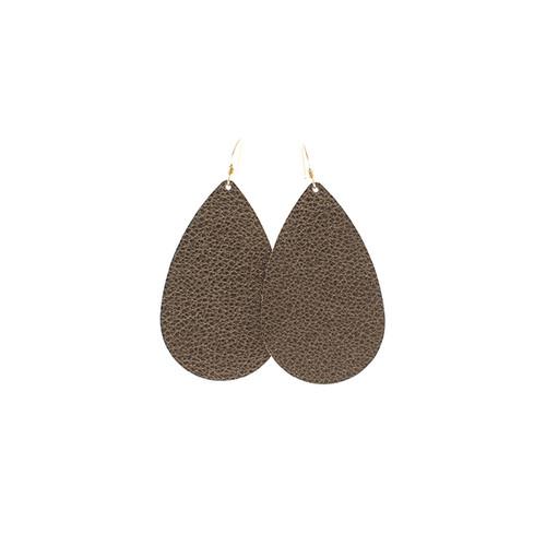 Nickel & Suede Leather Earrings │Bronze Beauty