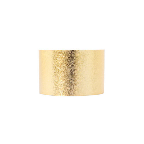 N S Signature Gold Wide Leather Cuff