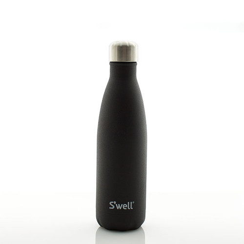 N&S Textured Matte Black Water Bottle  17 oz