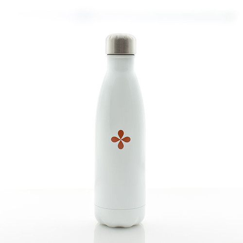 Glossy White Water Bottle