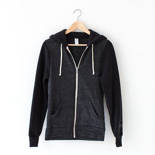 N S Unisex Eco Fleece Zip Hoodie
