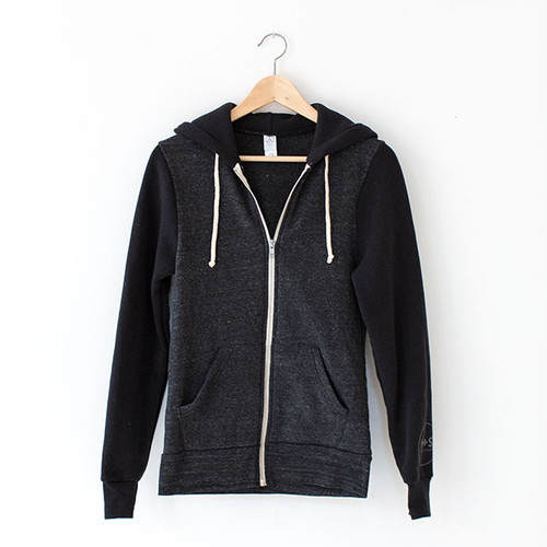 N&S Unisex Eco-Fleece Zip Hoodie