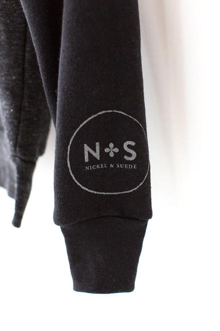 N&S Unisex Eco-Fleece Zip Hoodie Logo on left sleeve