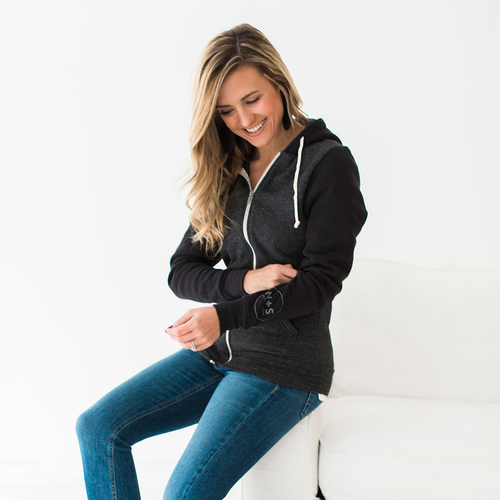 N&S Unisex Eco-Fleece Zip Hoodie