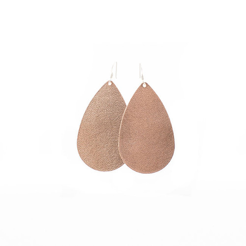 N&S Signature Rose Gold Leather Earrings Sterling silver ear wire  Nickel free