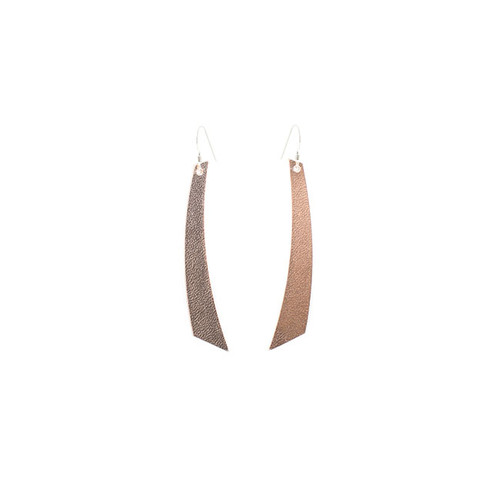 N&S Signature Rose Gold Accent Leather Earrings Sterling silver ear wire  Nickel free