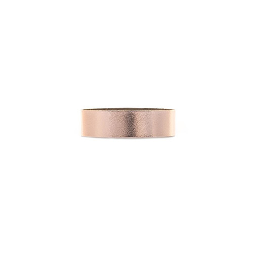 N S Signature Rose Gold Thin Leather Cuff