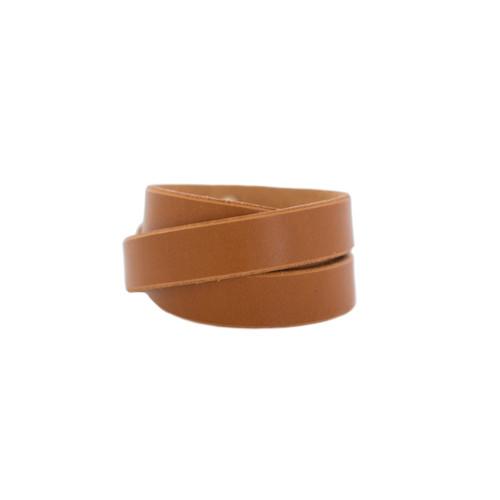 London Tan Wrap Leather Cuff